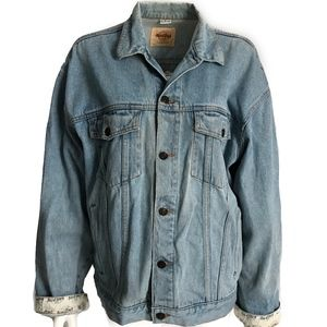 Vintage Denim Jacket Hard Rock Cafe Singapore L